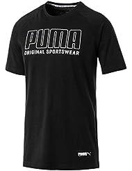 Puma Athletics Graphic, Maglietta Uomo, Nero (Cotton Black), M