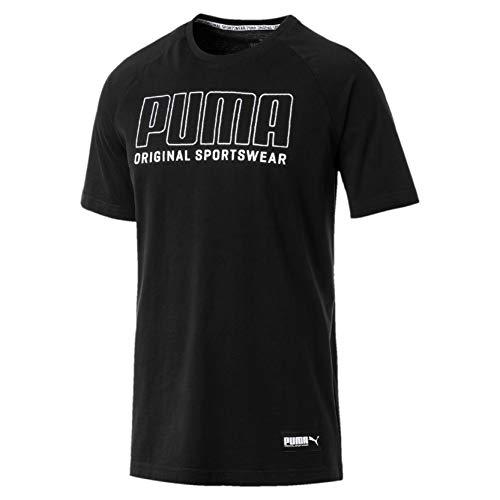 PUMA Herren Athletics Graphic Tee T Shirt, Cotton Black, L