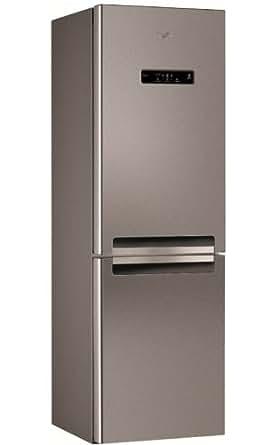 Whirlpool WBV7833 Nfcix Autonome 320L A+ Argent - réfrigérateurs-congélateurs (320 L, N-T, 42 dB, 4,5 kg/24h, A+, Argent)