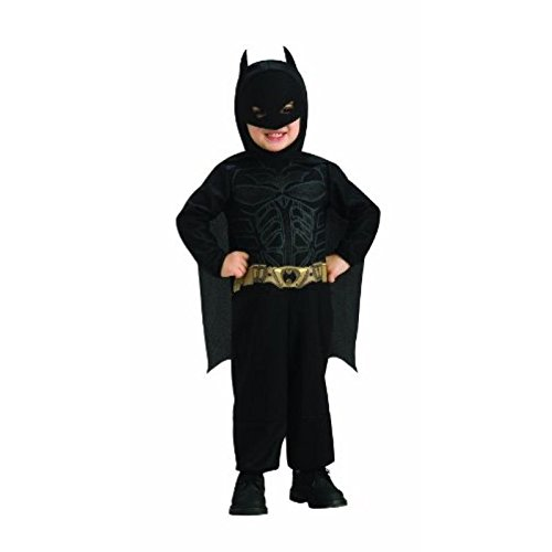 an Kostüm für Kinder - The Dark Knight mit Umhang und Maske - 1-2 Jahre (Original Batman Kostüm)