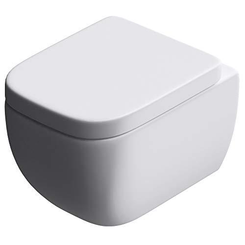 Edle Design Toilette Aachen101, mit Silent Close Sitz, Wand-WC, Hänge WC