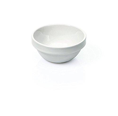 15 mini coupelles pour ingrédients de cuisson, etc. Ø 7 cm en porcelaine blanche