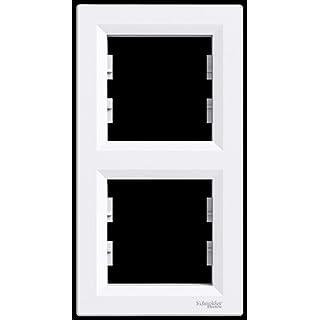 2Rahmen senkrecht, Schneider Electric, Asfora–Rahmen, Set, colour weiß, New