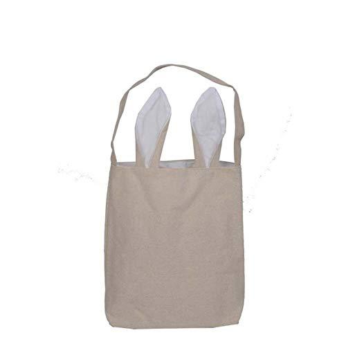 KKRIIS 10 Teile/los Ostern Dekoration Lieferungen Ostern Geschenk Tasche Jute Sackleinen Material Kaninchen Ohr Form Taschen Für Kind Geschenke Verpackung, T11
