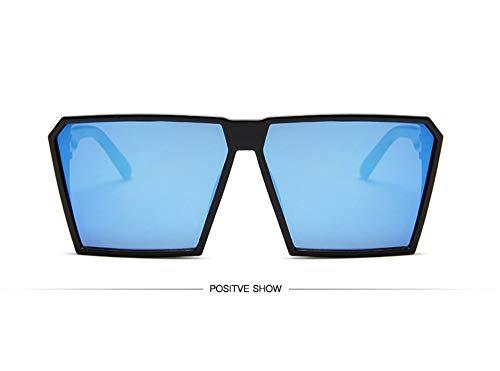 WSKPE Sonnenbrille,Sonnenbrille Mädchen Junge Kinder Sonnenbrille Mit Rechteckigem Rahmen Uv400 Brillen Fashion Kids Eyewear Schwarzen Rahmen,Blaue Linse
