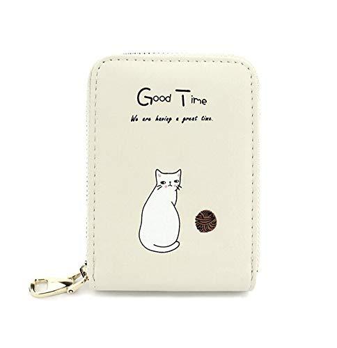 Oyccen Damen Kreditkarteninhaber Süße Katze Kleine Geldbörse Reißverschluss Ausweis Kartenhüllen Kartenetui