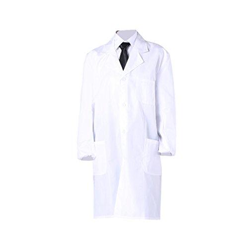 Laborkittel / Labormantel (weiß) - als Berufsbekleidung oder hochwertiges Kostüm – antistatisch – für Herren und Damen geeignet (Wissenschaftler Kostüme)