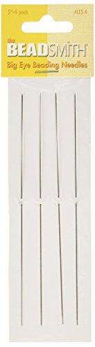 Beadaholique, Nadeln zur Perlenstickerei, mit großem Nadelöhr, 12,7cm, 4Stück