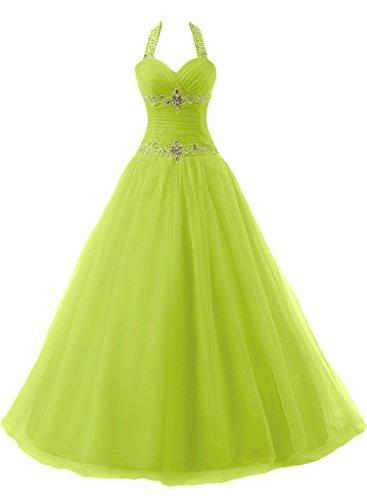 """Donna Ivydressing lieb Ling Neck cantore con""""sassi Duchesse-linea Bete vestito lungo un'ampia vestito da sera Verde"""