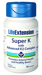 6-Pack Super K with advanced K2 Komplex 90 Count by Life Extension