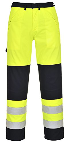 PORTWEST FR62 - Multinorm Warnschutz-Hose, 1 Stück, L, gelb/marine, FR62YNRL - Perlen-3 Stück-hose