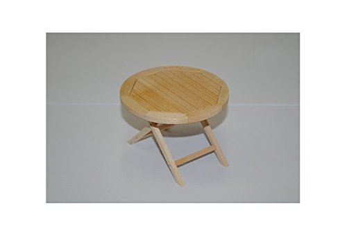 Tisch Holz Möbel - beige hell - Miniatur für Puppenstube Puppenhaus - Maßstab 1:12 / Küchenmöbel - Wohnzimmermöbel - Gartenmöbel Gartenbank - Diorama