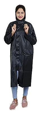 Zacharias Women's PVC Raincoat(Zach-women-rain-coat-black, Black, Free Size) - Pack of 1
