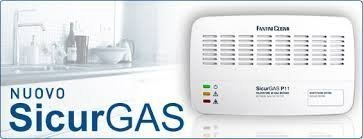P11 RILEVATORE FUGHE GAS METANO DA PARETE SICURGAS GAS DETECTOR