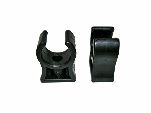 KDT Rohrklemme RKPS 12 (25, 12 bis 13 mm), Kunststoff schwarz Gewinde M6, 25 Stück