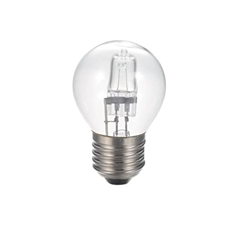 Bulk Hardware BH05255 Eco-Halogen Energy Saving Dimmable Golf Ball Bulb (Twin Pack) 18W ES, Glass, Clear, E27, 18 Watts, Pack of 2