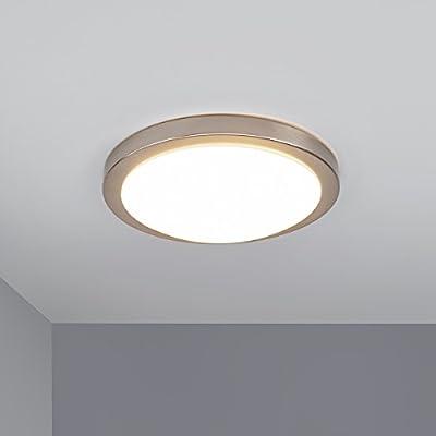 LED-Deckenleuchte Aras Metall Nickel Deckenlampe Bad 20W LED ...