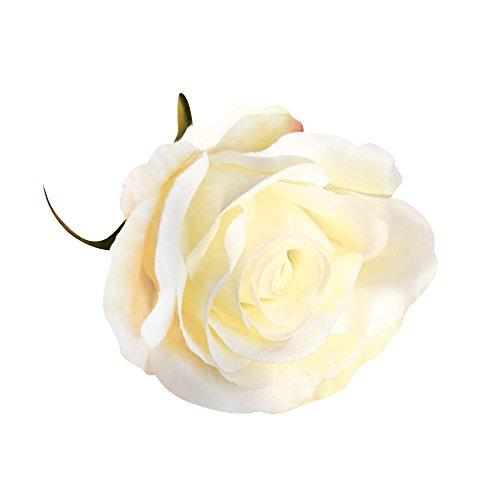 Pinzhi 1 Stücke Große Künstliche Rose köpfe Dekoration DIY für Hochzeit Hausparty (weiß)