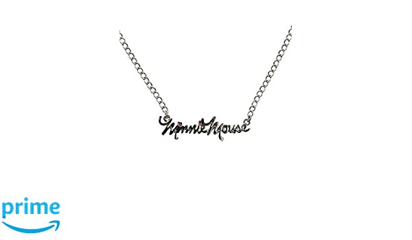 2650d3fd9 Disney Minnie Mouse Scribble Name Necklace: Amazon.co.uk: Jewellery