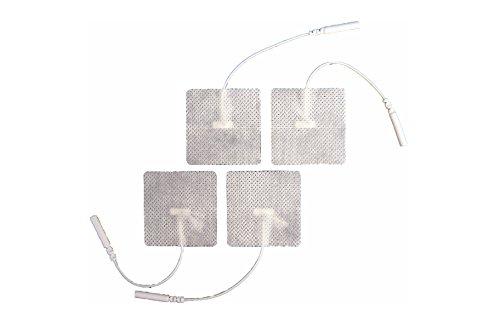 FIAB SpA PG471W Elettrodi Monouso in Tessuto Conduttivo per Elettrostimolazione con Cavetto...