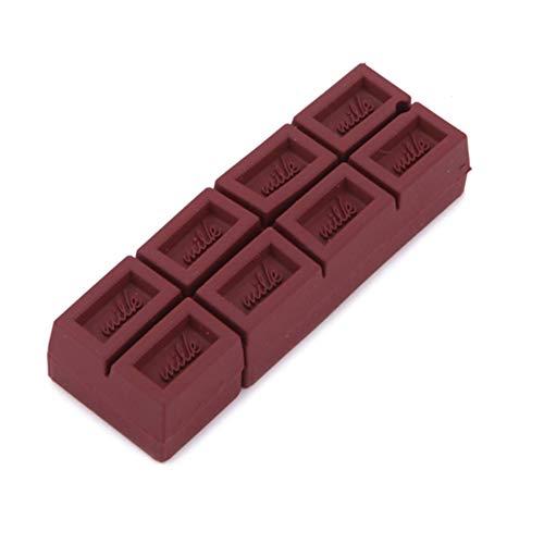 lujiaoshout Chocolate Bar USB-Flash-Laufwerk Datenspeichergerät 4GB Schlüsselring -