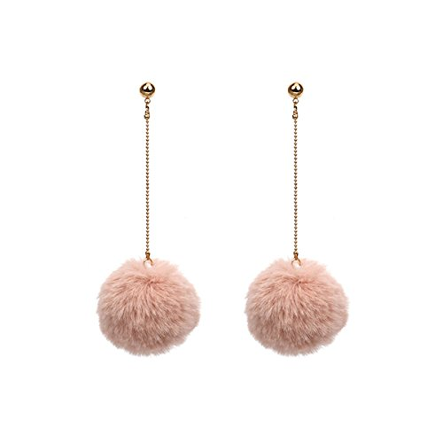 Butterme Frauen Mode Pom Pom Ball Quasten Drop baumeln lange Gold Chain Link baumelnden Ohrring Ohr - Drop Gold Ball Ohrringe