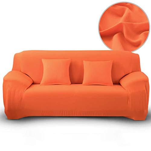 Funda elástica de algodón para sofá Fundas de sofá Todo Incluido para Sala de Estar Funda de sillón de Esquina 1/2/3/4 plazas,Candyorange,2seater: Amazon.es: Hogar