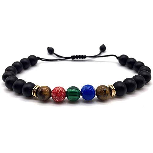 uck Geschenk,Hot Fashion Men Women Bead Bracelet Braided Macrame Handmade for Men Women Jewelry Stone Bracelet Friend Gift ()
