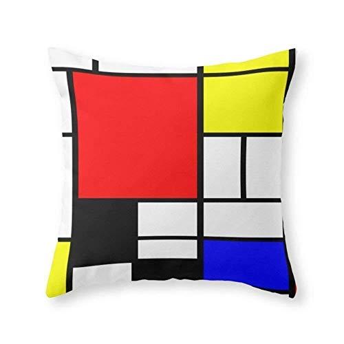 NasNew Mondrian Throw Pillow Indoor Cover 18
