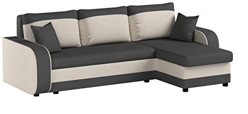 Ecksofa Kristofer, Design Eckcouch Couch! mit Schlaffunktion, Zwei Bettkasten, Farbauswahl, Wohnlandschaft! Bettfunktion! L-Form Sofa! Seite Universal! (Mikrofaza 0027 + Mikrofaza 0031)