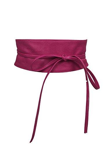 Damen Gürtel Wickelgürtel Bindegürtel in modischen Farben One Size SA-46 (Pink)