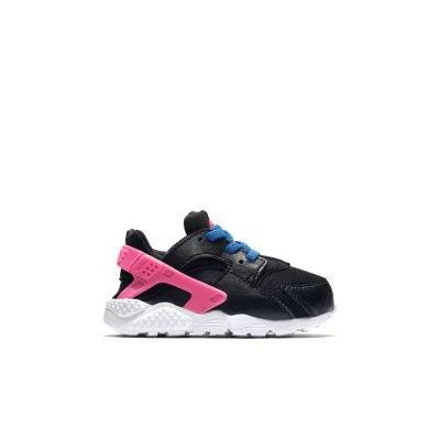Nike Huarache Run (Td), Chaussures de Football Bébé Garçon Multicolore - Negro / Verde / Rosa / Azul (Black / Volt-Pink Pow-Photo Blue)