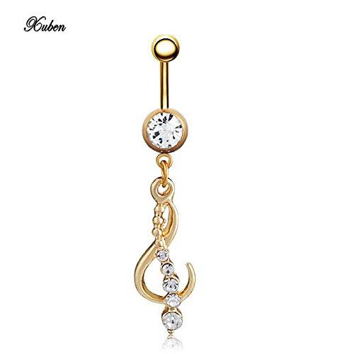 Brolux(TM) neue attraktive baumeln Bauchn Ring-K?rper-Piercing Gold-Sexy Navel Ringe (Sexy Navel Ringe)