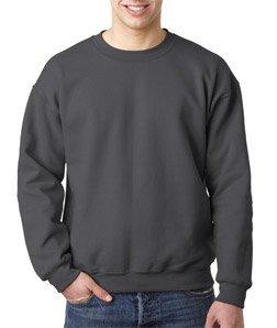 50 Fleece Crew Sweatshirt (Adult DryBlend� 9.0 oz., 50/50 Fleece Crew CHARCOAL 3XL)