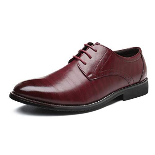 Qianliuk Oxford Schuhe Für Männer Leder Retro Vintage Kleid Schuhe Männer Formale Business Schuhe Spitz Hochzeit Schuhe - Distressed Loafer