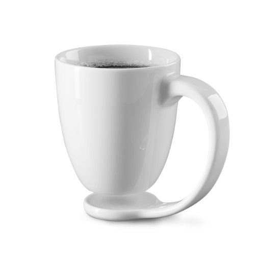 NO.1 COFFEE & TEA PRODUCTS PLAIN WHITE PORCELAIN MUG AND HANDLE BEST GIFT IDEAS FOR COFFEE AND TEA BEST BUY REVIEWS UK