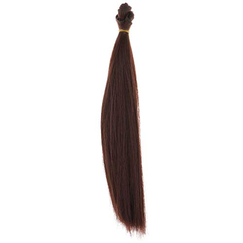 SM SunniMix Puppenzubehör Puppe Haar langes Gerade Perücke Haarteil - Farben zur Auswahl - Auburn (Auburn Haar Perücke)