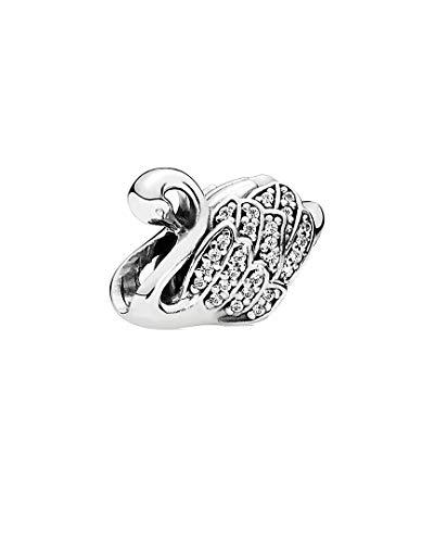 PANDORA Charm Bead Frauen 791732CZ Majestic Silber Schwan