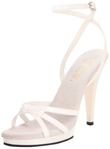 Fabulicious Flair-436, Sandales Bout Ouvert Femme Blanc (Wht Pat/Wht)