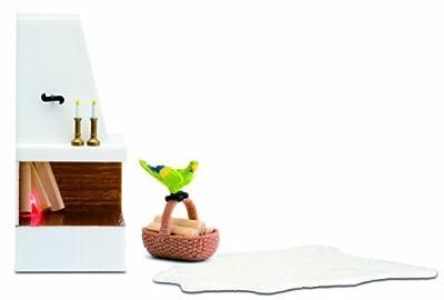 Lundby 1:18 Escala Dolls House Småland Corner Set Chimenea por Micki Leksaker Ab