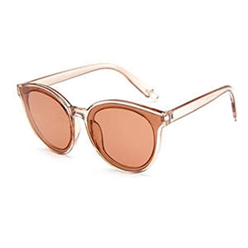 Gaodaweian Damen-Sonnenbrillen Flexible Frames Polarized Impact mit Farblinse für Damen und Mädchen (Color : Champagne)