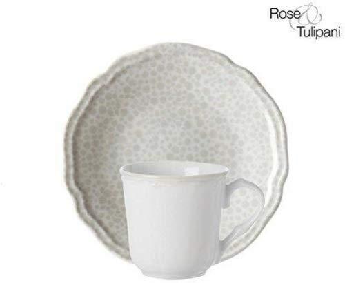 Rose e Tulipani r154400022 Mayflower Sable, 13 cm Soucoupe à Café, Verre, Lot de 6