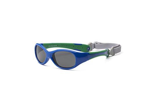 Real Kids 0EXPRYGR Explorer Babysonnenbrille, Flexible Passform, Größe 0-2 Jahr, königsblau/grün