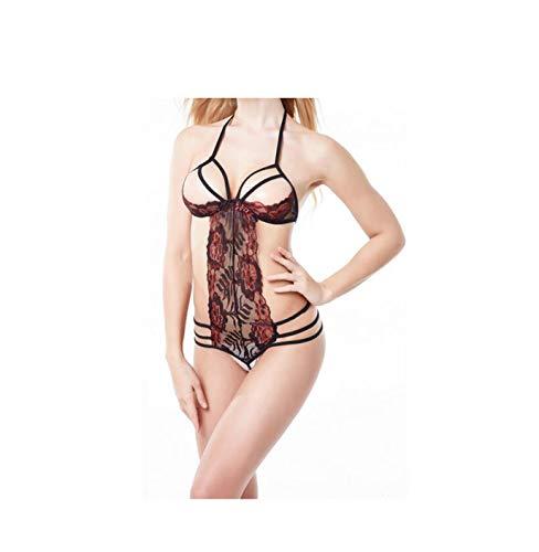 pageantry Bodysuit Sexy Dessous Damen Erotik Babydoll Spitze One Piece Lingerie Bodysuit Halter Reizwäsche Hoher Taille Unterwäsche Spitzen Lingerie Bodysuit -