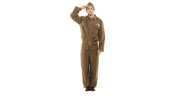 2c10682c05b Orion Costumes Mens Khaki Brown Home Guard WW2 1940s Army Fancy ...