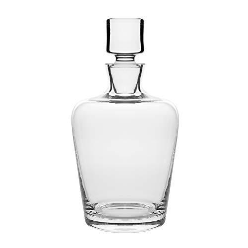 Barski - europäische Qualität - Glas - Whiskey - Likör - Dekanter - klassisch klar - 1040 oz. Höhe: 22 cm, hergestellt in Europa Cut Glas Whiskey