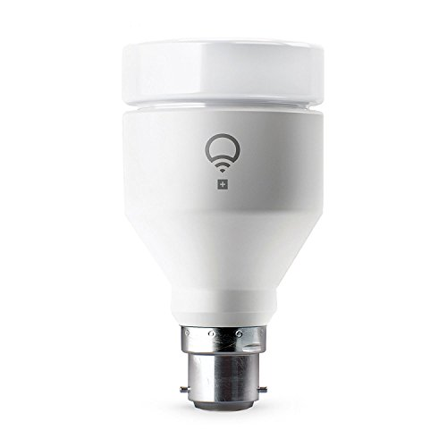 LIFX + (B22) Wi-Fi Smart LED Light Bulb with Infrared for Night Vision, Adjustable, Multicolour, Dimmable, No Hub Required, Works with Alexa, Apple HomeKit and the Google Assistant