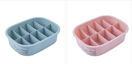 Krevia 15 Grid Design Plastic Clothes, Undergarment,Stationary, Drawer Storage Organizer Box with Lid - 1pc (Color May Very)