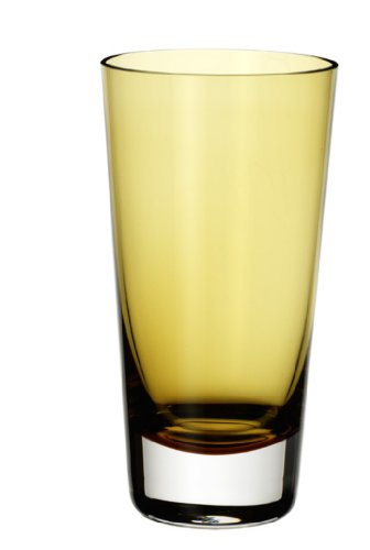 Villeroy & Boch Colour Concept Longdrinkglas Amber, 420 ml, Glas, Klar/Gelb