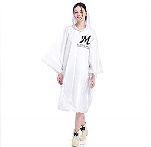 LIYONG Regenponcho, Wasserdichter Regenmantel Leichter, Packbarer Regenmantel Transparente Regenponchos-Regenbekleidung -